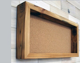 """Reclaimed Wood Shadow Box 24"""" x 12"""" x 2"""" with open face"""