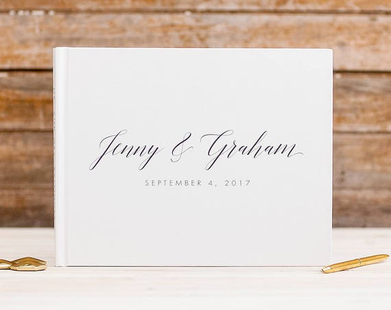 Wedding Guest Book horizontal landscape guestbook sign in book photo booth wedding planner book hardcover guest book instant photo book