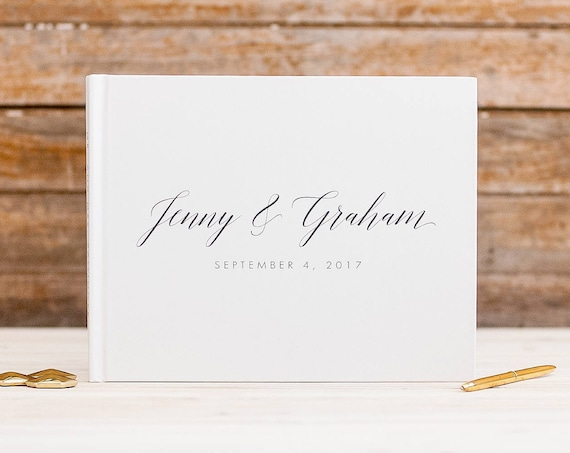Wedding Guest Book wedding guestbook rustic wedding guest book wedding album white guest book wedding gift custom guest book signing book