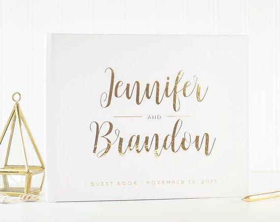 Gold Wedding Guest Book Wedding Guestbook gold foil Guest Book Custom Guest book Rustic Wedding Guest Book Ideas gold wedding photo album