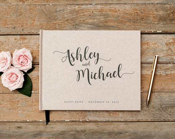 Wedding Guest Book wedding guestbook horizontal wedding photo book wedding planner book for wedding album guest book for wedding photo book