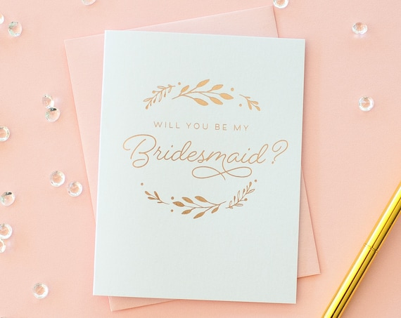 Will You Be My Bridesmaid card Rose Gold Foil bridesmaid proposal bridesmaid invitation bridesmaid gift foil bridesmaid card bridesmaid box