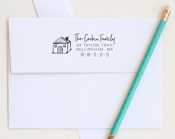 House Address Stamp, Address Rubber Stamp, Custom Address Stamp Return Address Stamp Personalized Address Stamp Housewarming Gift new house