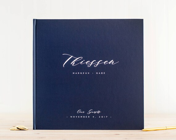 Wedding Guest Book wedding guestbook navy blue wedding guest book personalized wedding guest book planner wedding photobook for wedding navy