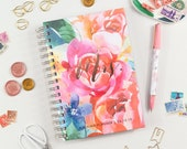 Wedding Planner, Personalized Wedding Planning Notebook, Coil Bound Wedding Planner, Floral Wedding Planner, Rose Gold Wedding Planner Book