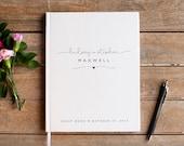 Wedding Guest Book Wedding Guestbook Custom Guest Book Personalized wedding gift wedding sign in book wedding keepsake rustic wedding gift
