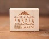 Mountain Address Stamp, Address Rubber Stamp, Custom return address rubber stamp, Rustic return address stamp, rubber stamp, wedding stamp