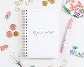 Personalized Wedding Planning Notebook, Wedding Planner Custom Wedding Planner Gold Wedding Planner Future Mrs. Wedding Planner Personalized
