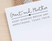 Return Address Stamp, Custom Address Stamp, Family Address Stamp, Personalized Address Stamp, Heart Address Stamp, eco friendly gift