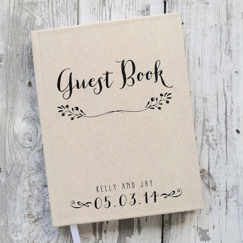 Guest Book Wedding.Wedding Guest Book Wedding Guestbook Custom Guest Book Personalized Rustic Kraft Wedding Keepsake Wedding Gift Guestbook Photo Booth Lined