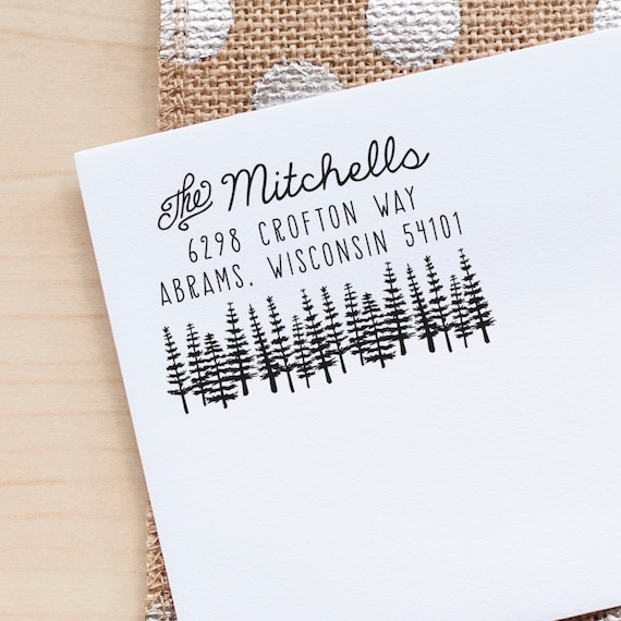 Tree address stamp, address stamp, return address rubber stamp, custom address stamp, personalized address stamp, stationery stamp, gift eco