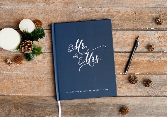 Wedding Guest Book Wedding Guestbook custom wedding book rustic wedding signin book personalized photo booth wedding gift for bride planner