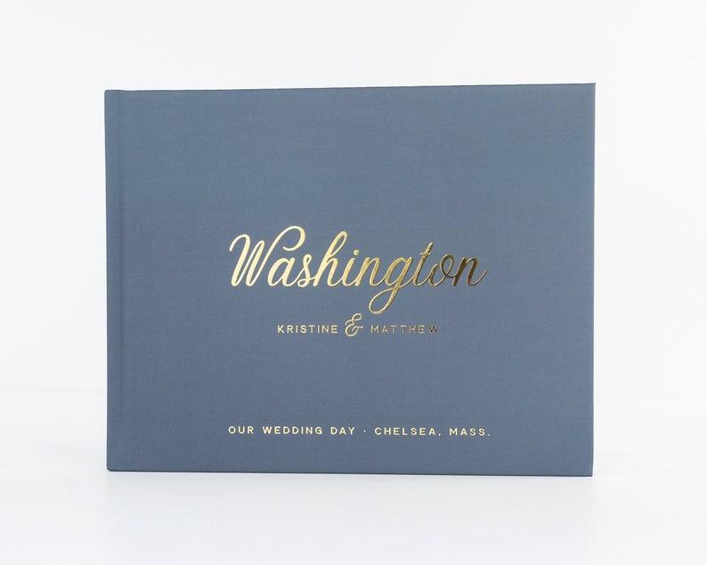 Slate Blue Guest Book \u2022 Wedding Guestbook \u2022 Wedding Guest Book \u2022 Custom Wedding Album \u2022 Keepsake Wedding Journal Hardcover Photo Guest Book