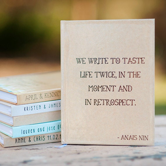 Custom writing journal, Notebook,  - Anais Nin Quote, Personalized, Customized, choose your quote, custom design, personalized journal, gift