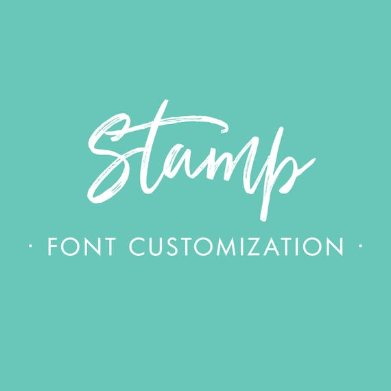 Starboard Press Stamp Font Customization