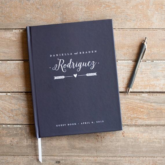 Wedding Guest Book Wedding Guestbook Custom Guest Book Personalized Customized rustic wedding keepsake wedding gift guestbook navy nautical