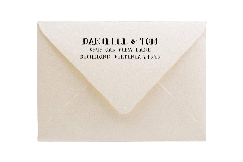 wedding stamp custom return address stamp wedding invitation stamp
