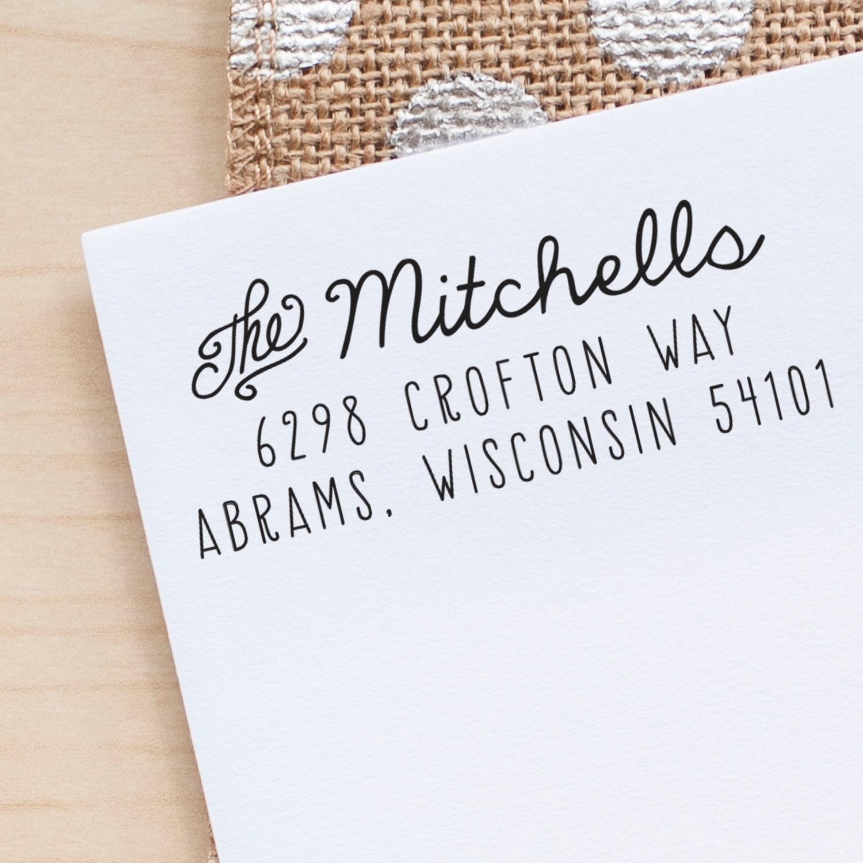 Address Stamp Custom Rubber Wedding Stationery