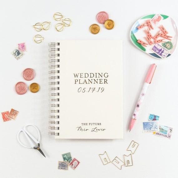 Gold Wedding Planner, Wedding Planner Book, Wedding Planning Book, Gold Foil Wedding Planner, Bride to Be Gift Bridal Shower Gift Bride Book