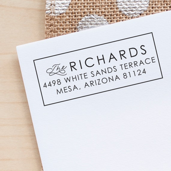 Modern Address Stamp, Custom Return Address stamp, Wedding Address Stamp, personalized gift, eco friendly rubber stamp, rubber address stamp