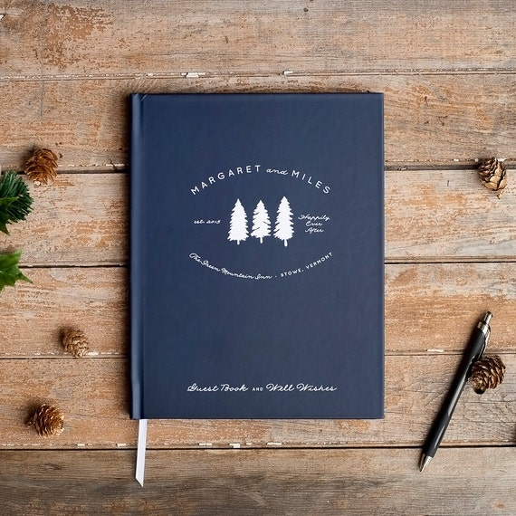 Guest House Guest Book Cabin Guestbook Visitor Log Housewarming Gift Vacation House Book Memory Book Lake House Guestbook AirBnB Guest Book