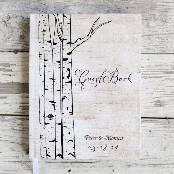 Tree Wedding Guest Book Custom Guestbook Woodsy Wedding Sign in book wedding keepsake rustic wedding photo booth book reception gift idea