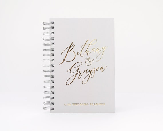 Wedding Planner Book Personalized Wedding Planning Notebook Etsy