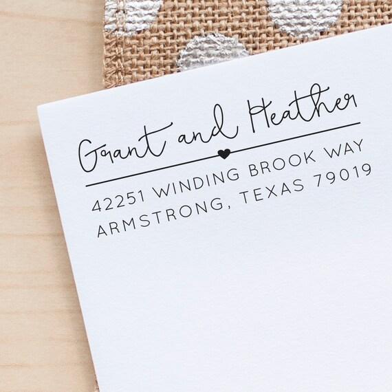 Address Stamp, Address Rubber Stamp, Custom Address Stamp, Return Address Stamp, Personalized Address Stamp, Heart Address Stamp, eco gift