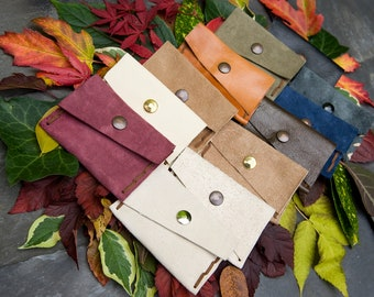 Handmade Recycled Leather/ Suede Change Purse