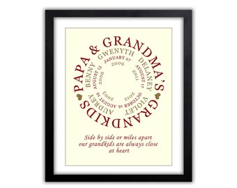 Gifts for Grandparents - Gift For Mom - Personalized Grandparent Gift - Grandkids Print - Gift for Grandpa and Grandma -   Print,