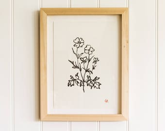 Wildflower 2 PRINT | Nursery Art | Gifts for Kids | Gifts for Her | Stocking Filler