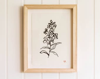 Salvia PRINT | Floral Art Print | Floral Wall Decor