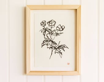 Wildflower PRINT | Gardening Gift | Gifts for Gardeners | Gifts for Plant Lovers