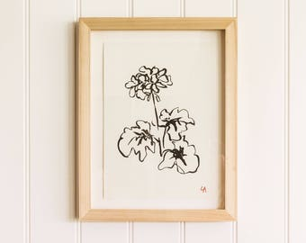 Geranium PRINT | Botanical Print Collection | House Warming Gift