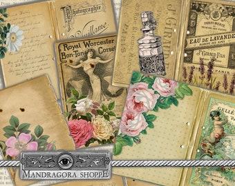 vintage look ephemera cards  instant easy download printable digital collage sheet ephemera scrapbooking card making JPEG PDF