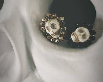 Beaded Skull Ring