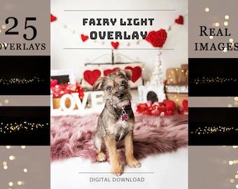 25 Fairy Light Photo Overlays   Digital Overlay   Real Light overlays   Fairy lights   Light Overlays for Photoshop    Cake Smash Lights