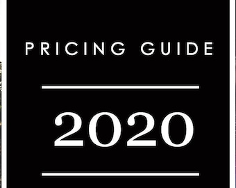 Pricing template for Photography   Photo pricing guide PSD file   Photoshop photo template   one page pricing guide   pricing template 2020