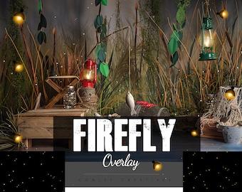 Firefly Photo Overlays   Digital Overlay   Lightening bug overlays   Fairy lights   Light Overlays for Photoshop    Firefly Overlay