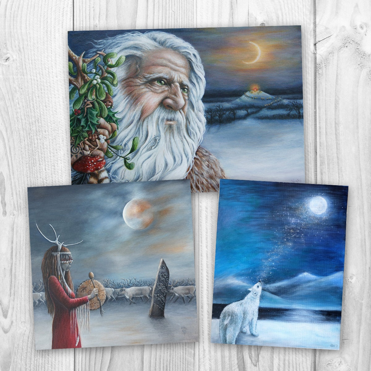 Yule cards / Winter Solstice cards / Christmas cards / pack of 3