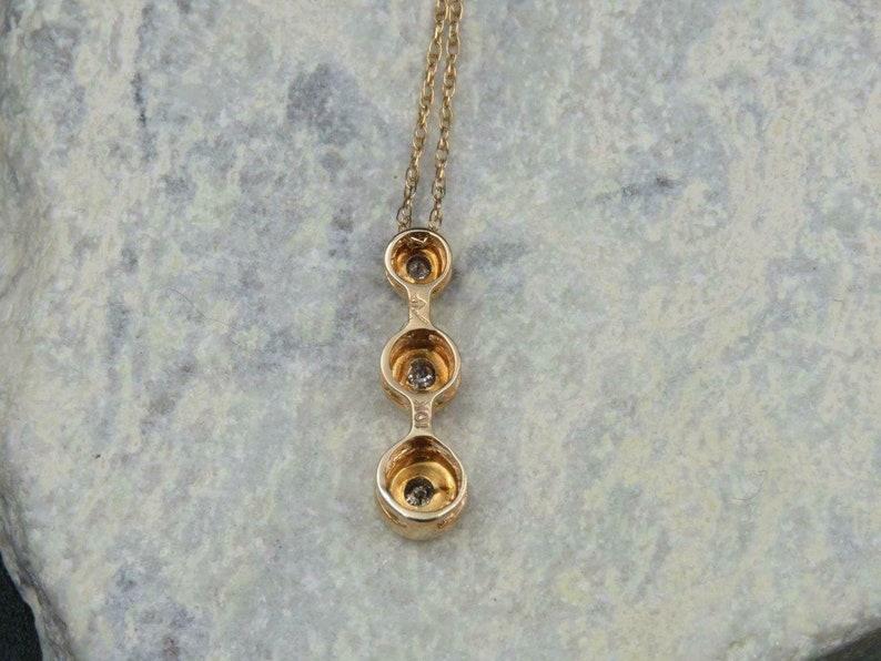 3815b0f479253 Kay Jewelers 10K Gold Past Present Future Diamond Pendant w/ Chain Necklace  18