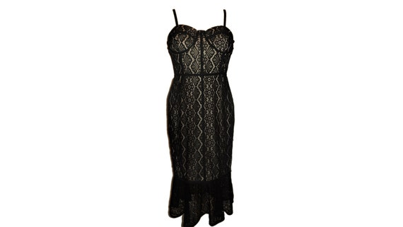 Corset Dress Black Lace Evening