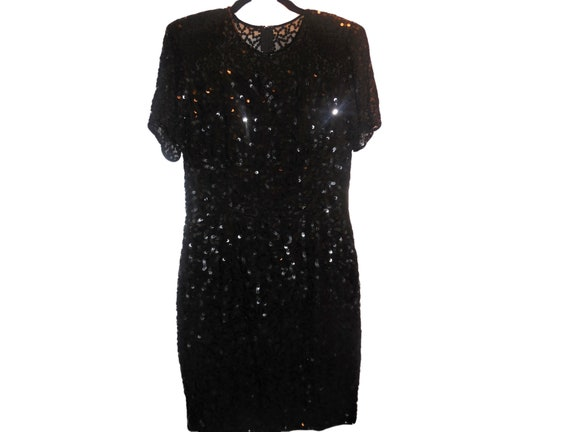 1980s Vintage Dress Silk Sequins Special Occasion