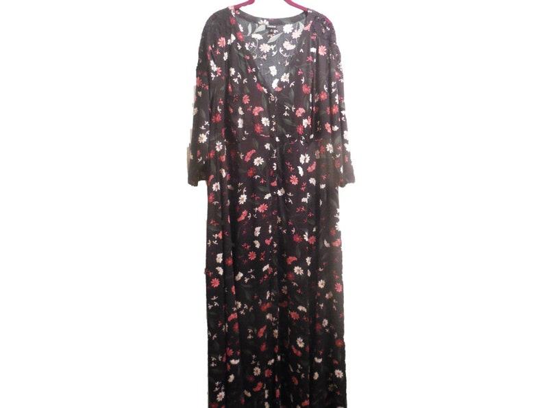 Maxi Dress Long button down Robe Floral plus size