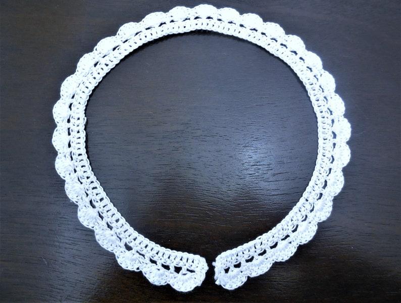 Crochet Collar White Handmade