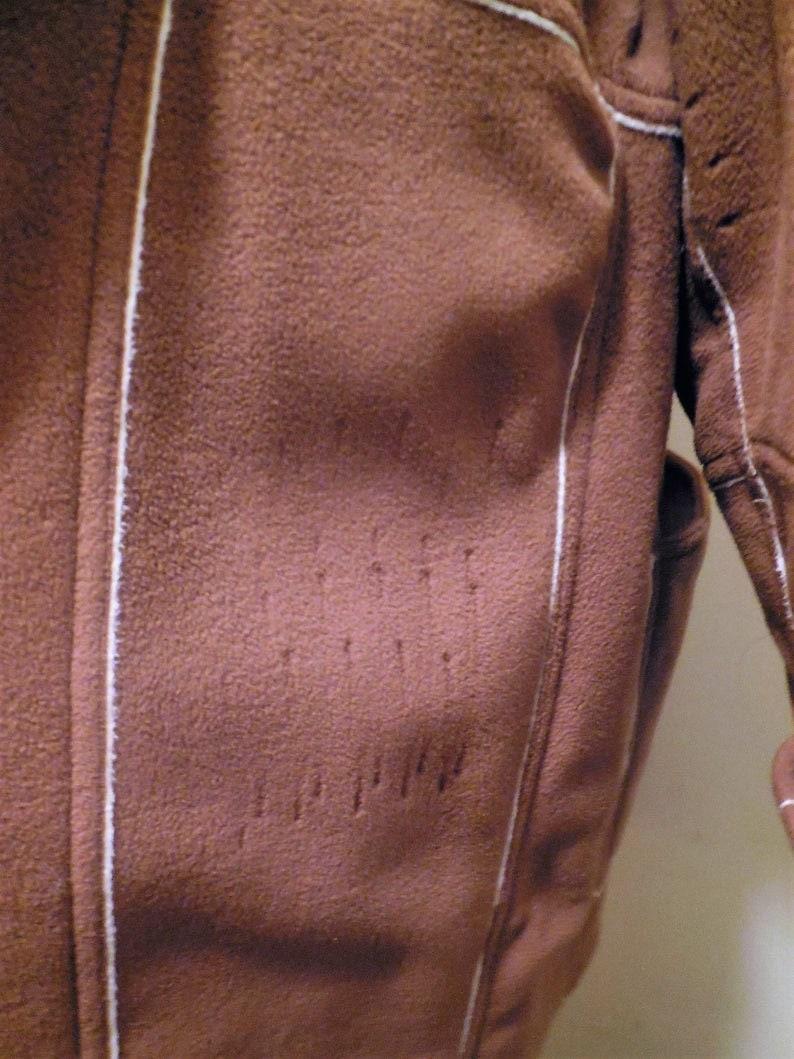 Fleece Coat SALE  Tan Brown Color Women/'s Short Winter Jacket Vintage Clothing Cold Weather