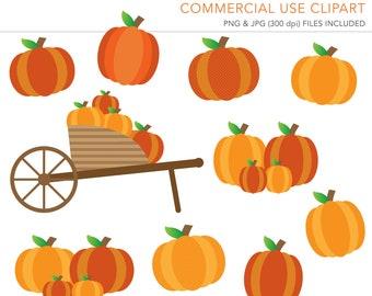 Commercial Use Clipart, Commercial Use Clip Art, Pumpkin Clipart, Pumpkin Patch Clipart, Fall Decor, Commercial License, Commercial Clipart