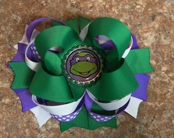 Teenage Mutant Ninja Turtles Hair Bow  Donatello