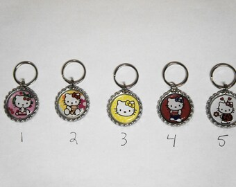 Hello Kitty  Zipper Pulls or Key Chain