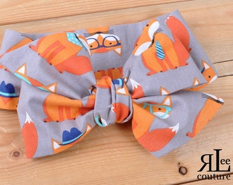 Trendy Fox Headwrap - Bow Headwrap - Head Wrap - Baby Headwrap - Hair Bow